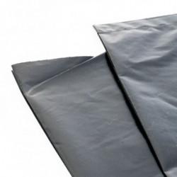 Film plastique de protection 6 m x 30 m. Haute résistance, Grande largeur, Opaque, Noir (1 rouleau)