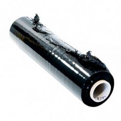 Film étirable manuel 450 mm x 270 m, Haute résistance, Opaque, Noir (x6 rouleaux)
