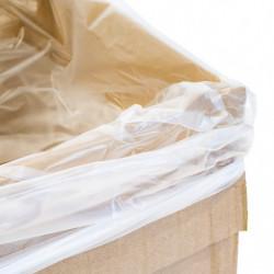 Sac fond de caisse de taille utile maxi 590 x 595 x 250 mm, Transparent, Apte à l'alimentaire (x1000)