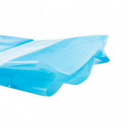 Sac fond de caisse de taille utile maxi 790 x 490 x 700 mm, Liassé, Bleu translucide, Apte à l'alimentaire (x1000)