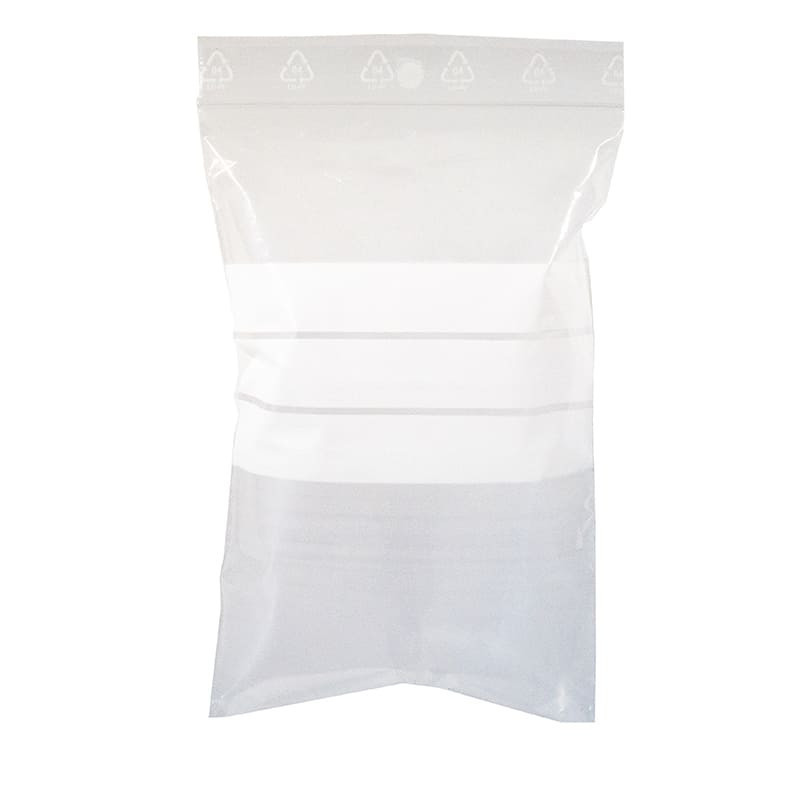 sachet plastique zip polyethylene basse densite, vierge, transparent